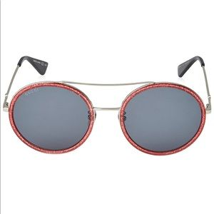 Gucci Round gg0061s 56mm Sunglasses
